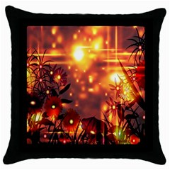 Summer Evening Throw Pillow Case (Black)