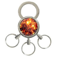 Summer Evening 3-Ring Key Chains