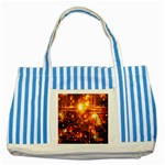 Summer Evening Striped Blue Tote Bag Front