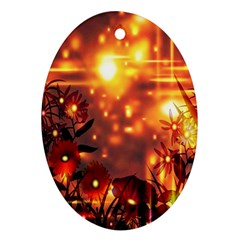 Summer Evening Oval Ornament (two Sides)