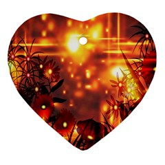 Summer Evening Heart Ornament (Two Sides)