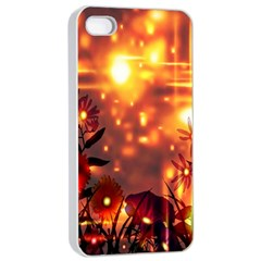 Summer Evening Apple iPhone 4/4s Seamless Case (White)