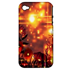 Summer Evening Apple iPhone 4/4S Hardshell Case (PC+Silicone)