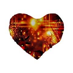 Summer Evening Standard 16  Premium Heart Shape Cushions