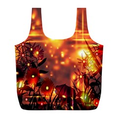 Summer Evening Full Print Recycle Bags (l)