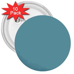 Hydrangea Blue in an English Country Garden 3  Buttons (10 pack)
