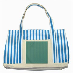 Hydrangea Blue in an English Country Garden Striped Blue Tote Bag