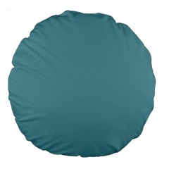 Hydrangea Blue in an English Country Garden Large 18  Premium Round Cushions