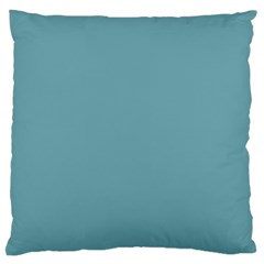 Hydrangea Blue in an English Country Garden Large Flano Cushion Case (One Side)