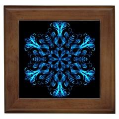 Blue Snowflake Framed Tiles