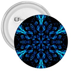 Blue Snowflake 3  Buttons