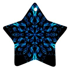 Blue Snowflake Ornament (Star)