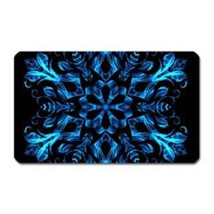 Blue Snowflake Magnet (rectangular)