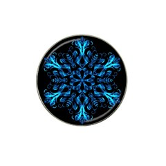 Blue Snowflake Hat Clip Ball Marker (10 Pack)