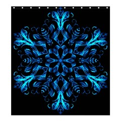 Blue Snowflake Shower Curtain 66  x 72  (Large)
