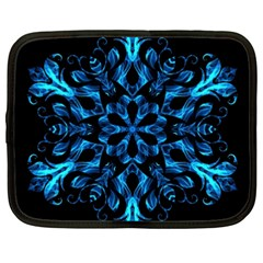 Blue Snowflake Netbook Case (XXL)