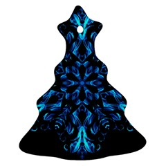 Blue Snowflake Christmas Tree Ornament (Two Sides)