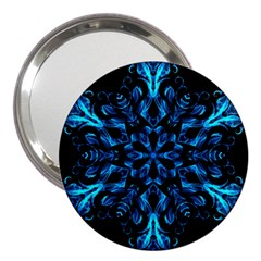 Blue Snowflake 3  Handbag Mirrors