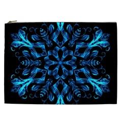 Blue Snowflake Cosmetic Bag (xxl)