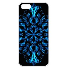 Blue Snowflake Apple Iphone 5 Seamless Case (white)