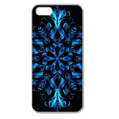 Blue Snowflake Apple Seamless Iphone 5 Case (clear)