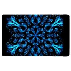 Blue Snowflake Apple iPad 3/4 Flip Case