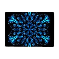 Blue Snowflake Apple iPad Mini Flip Case