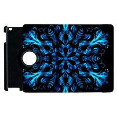 Blue Snowflake Apple Ipad 3/4 Flip 360 Case