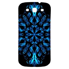 Blue Snowflake Samsung Galaxy S3 S III Classic Hardshell Back Case