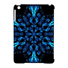 Blue Snowflake Apple iPad Mini Hardshell Case (Compatible with Smart Cover)