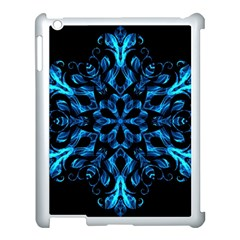 Blue Snowflake Apple Ipad 3/4 Case (white)