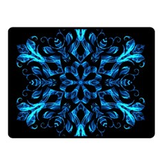 Blue Snowflake Double Sided Fleece Blanket (Small)