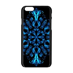Blue Snowflake Apple iPhone 6/6S Black Enamel Case
