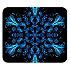 Blue Snowflake Double Sided Flano Blanket (Small)