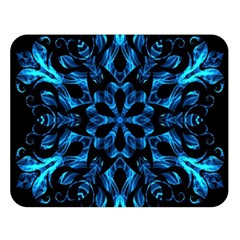 Blue Snowflake Double Sided Flano Blanket (large)