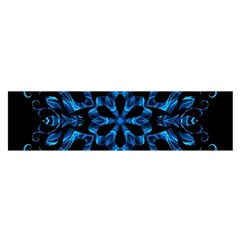 Blue Snowflake Satin Scarf (Oblong)