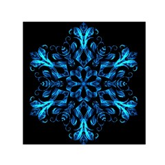 Blue Snowflake Small Satin Scarf (square)