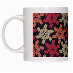 Floral Seamless Pattern Vector White Mugs