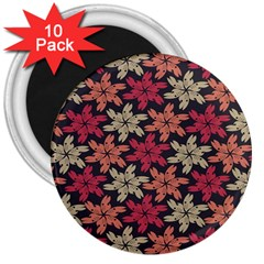 Floral Seamless Pattern Vector 3  Magnets (10 Pack)