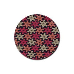 Floral Seamless Pattern Vector Rubber Coaster (round)