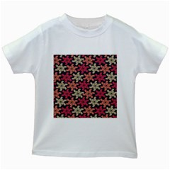 Floral Seamless Pattern Vector Kids White T Shirts
