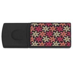Floral Seamless Pattern Vector USB Flash Drive Rectangular (1 GB)