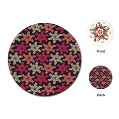 Floral Seamless Pattern Vector Playing Cards (round)