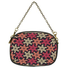 Floral Seamless Pattern Vector Chain Purses (one Side)
