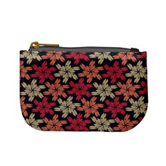 Floral Seamless Pattern Vector Mini Coin Purses