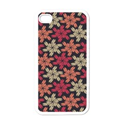 Floral Seamless Pattern Vector Apple iPhone 4 Case (White)
