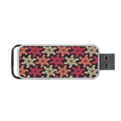 Floral Seamless Pattern Vector Portable USB Flash (One Side)
