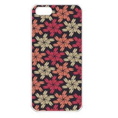 Floral Seamless Pattern Vector Apple Iphone 5 Seamless Case (white)