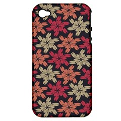 Floral Seamless Pattern Vector Apple iPhone 4/4S Hardshell Case (PC+Silicone)