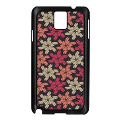 Floral Seamless Pattern Vector Samsung Galaxy Note 3 N9005 Case (Black)